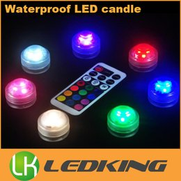 Wireless remote control sWitch Waterproof online shopping - RGB LED candle lights wireless waterproof submersible led light With a remote control colors change for fish tank