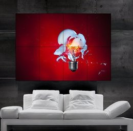 $enCountryForm.capitalKeyWord NZ - High-speed photography Light bulb exploding Poster print wall art 8 parts Poster print art huge picture photo free shipping No262