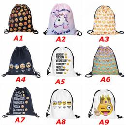 $enCountryForm.capitalKeyWord Canada - who cares Backpack Emoji black 3D printing 2017 Fashion travel softback women mochila drawstring bag mens backpacks sac a dos