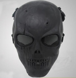 Protective face mask skull online shopping - New Airsoft Mask Skull Full Protective Mask Military Festive Party Supplies Party Masks