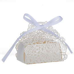 $enCountryForm.capitalKeyWord UK - 10pcs lots Rose Flower Laser Cut Wedding Box Wedding Favors And Gift Baby Shower Candy Box Party Supplies Wedding Decoration