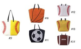 China Wholesale Blanks Baseball Tote Bags Sports Bags Casual Tote Softball Bag Football Soccer Basketball Bag Cotton Canvas Material richeal8 suppliers