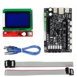 tft touch module UK - Freeshipping 3D Printer 32bit Arm Platform Smooth Control Board MKS SBASE V1.3 + MKS 12864 TFT LCD Touch Screen Display Module
