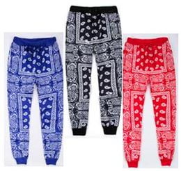 Wholesale-Hip Hop Jogging sweatpants men's Casual Harem Pants Unisex streetwear Cotton Joggers Red blue bandana Pants