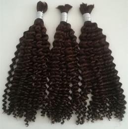 China Grade 5a virgin brazilian deep wave hair 100g set 3pcs lot no weft human hair bulk for braiding unprocessed hair products dhl free suppliers