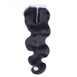 China Body Wave 4*4 Lace Closure 7A Unprocessed Human Hair Brazilian Indian Malaysian Peruvian Natural Color 8-24inch in Stock DHL Free Shipping cheap body wave closure free shipping suppliers