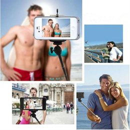 bluetooth stick 2019 - Monopod Selfie Stick Expandable Q08 StainlessSteel Bluetooth Holder Handhold Monopod For IOS Android Phones Camera Selfi