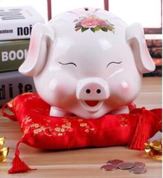 $enCountryForm.capitalKeyWord NZ - Creative gift large piggy piggy bank piggy bank children's cute cartoon ceramic coin paper money storage tank