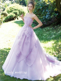 $enCountryForm.capitalKeyWord Canada - Free Shipping Lavender Ball Gown Sweetheart Sleeveless Organza Sweep Brush Train Dresses Wedding Dress Bridal Gowns Quinceanera Dress Women