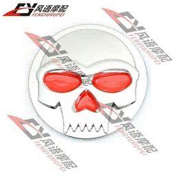 $enCountryForm.capitalKeyWord Canada - 2015 New 3D Round Tank Fender Fairing Skull Demon Bone Badge Emblem Decal Sticker For Harley Motorcycle Jeep SUV Car Auto