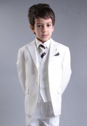 $enCountryForm.capitalKeyWord Canada - Hot Sale 2016 Write Boys Kids Formal Occasion Pinstripe Two buttons Straight pockets Wedding Party Suit Tuxedo (Jacket+Pants+vest)
