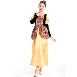c0cf6a8ca Sexy Princesa Mujeres Adultas Europea Royal Vintage Renacimiento Medieval  Vestido de Bola Victorian Disfraces de Halloween Cosplay A158698