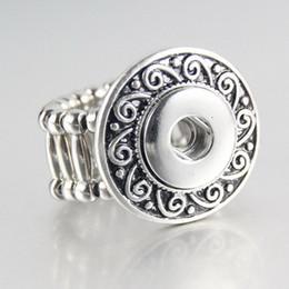 hot sale online f8137 e448c Mezcle los estilos del Rhinestone elástico Metal Charm 12 mm jengibre Snap  Button Anillos para las mujeres DIY botón a presión joyería