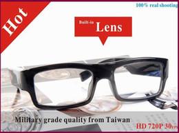 Camera Hd Dvr Slim Canada - New Arrival 100% Real Shooting Slim HD 720P Glasses camera eyewear military grade quality mini dvr USB Disk PC webcam Mini Camera