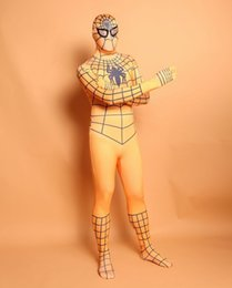 $enCountryForm.capitalKeyWord Canada - (D2-012)Top-high Quality Unisex Adult Full Body yellow Lycra Spandex Superhero Spiderman Zentai Suits Halloween Costume