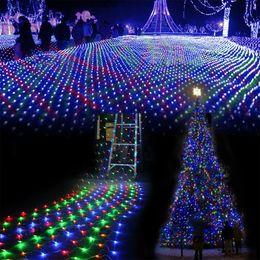 $enCountryForm.capitalKeyWord Canada - 2*3M 200 LED Linkable Design Net Mesh Fairy String Light Ideal for Indoor Outdoor Home Garden Christmas Party Wedding Curtain String Light