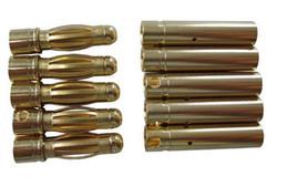 Wholesale Bullet Connectors Canada - 100 pair  lot 4 mm banana connector plug 4.0mm Gold Bullet Connector for RC battery