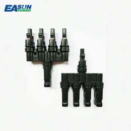 EASUN разъем питания MC4 1 пара M / FM панели солнечных батарей MC4 4T разъемы ответвления кабель муфта Combiner MC4 панели кабельные соединители