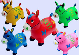 wholesale music plush toys NZ - Infants and children's toys inflatable jumping Maccabees thick increase environmental music jumping deer inflatable toy horse baby