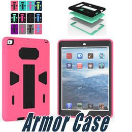 Ipad hybrId sIlIcone cover online shopping - Hybrid PC Silicone Armor Case Heavey Duty Case Cover For iPad Mini iPad Air iPad Pro