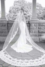 $enCountryForm.capitalKeyWord Australia - Best Selling Elegant Luxury High Quality Romantic Lovey Sexy Cathedral short Lace Applique veil Bridal Head Pieces For Wedding Dresses