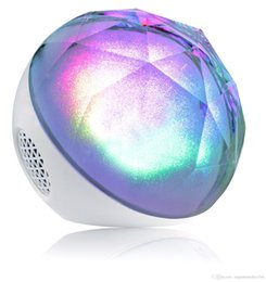 $enCountryForm.capitalKeyWord Canada - Color Ball bluetooth Speaker Factory Outlets Magic Crystal Ball Color Mini Bluetooth Speakers With Remote Control LED Light Speakers new