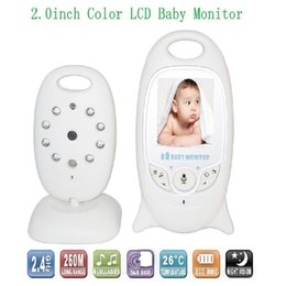 Video Battery Canada - Hot baba eletronica video baby monitor 2.4GHz IR Nightvision Temperature monitor 2-way talk 2.0 inch LCD video babysitting