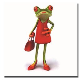 $enCountryForm.capitalKeyWord UK - Free shipping 2016 nice design hand painted home decoration cartoon frog large oil painting on canvas