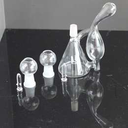 """$enCountryForm.capitalKeyWord NZ - Beaker Recycler Glass Bong Hand Blown Unique Design Small Water Pipe 6"""" Inch Oil Rig Bubbler Delicate Appearance 14.4mm Recycler bong"""