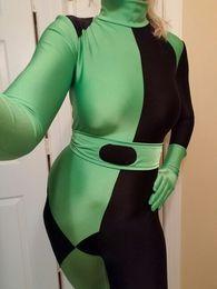 $enCountryForm.capitalKeyWord Canada - Kim Possible Shego Costume Female Super Villain Halloween Costume Lycra Spandex Zentai Woman Girls Lady Cosplay Adults Bodysuit