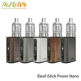 Power outs online shopping - Eleaf iStick Power Nano Kit iPower Nano mAH Thread Battery Mod w Out put With MELO Nano Atomizer ml