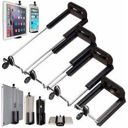 All'ingrosso-Nuovo arrivato Selfie Bastoni di alta qualità Vite Clip Staffa Supporto per fotocamera treppiede per iPhone per iPad da 8 pollici Tablet 4 tipi