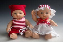 $enCountryForm.capitalKeyWord Canada - Full Silicone Vinyl Twins Reborn Baby Dolls 8 Inches Girl And Boy Newborn Babies Kids Realistic Toys Children Birthday Gift