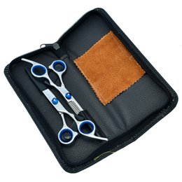 China Cheapest VS 6.0Inch Cutting Scissors and Thinning Scissors Kits,Human Hair Shears with Bule Screw for Salon or Home Used 1Set 1Pcs LZS0115 supplier used human hair suppliers
