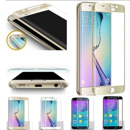 Screen protector free Shipping online shopping - Samsung Galaxy S7 Edge Tempered Glass Screen Protector H D Curved Full Coverage mm With Wooden Package DHL
