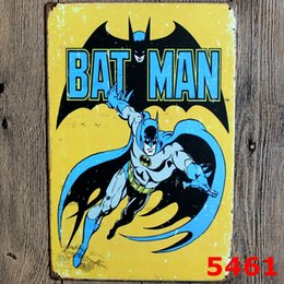 $enCountryForm.capitalKeyWord Canada - Vintage Batman Metal Painting Tin Signs Plaque Tavern Garage Bar Pub Wall Art Home Decor 20*30cm Poster Wall Decoration