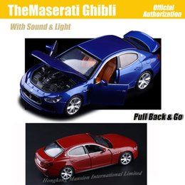 diecast sports cars 2019 - 1:32 Scale Luxury Diecast Alloy Metal Super Sports Car Model For TheMaserati Ghibli Collection Model Pull Back Toys Car