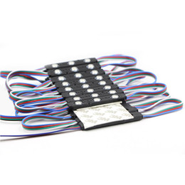 $enCountryForm.capitalKeyWord UK - Eyoumy 5050 3LED RGB Round Black Shell Injection LED IP67 Waterproof Led Module Advertising DC12V 1.5W With Lens 110-130LM