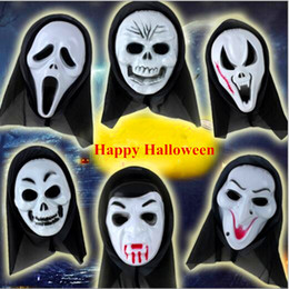 Discount scream ghost face costume - Halloween Costume Mask Scary Vampire Witch Ghost Face Scream Mask Halloween Christmas Party Horror Masks
