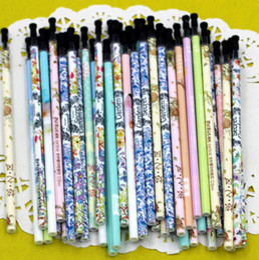 $enCountryForm.capitalKeyWord Canada - Wholesale 80pcs lot Gel Pen Refills Writing Supplies Refill Portable 0.38mm Black Ink Pen Refills Stationery Material Escolar