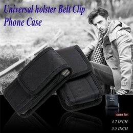 universal 5.5 inch phone case Canada - Newest For Galaxy S7 Note 5 Universal Sport Nylon Leather holster Belt Clip Pouch phone Case Cover for iphone 6 5.5 inch SCA171