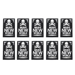 Cloth Patches Badges Australia - 10PCS black NEW skull badge patches for clothing iron fashion patch for clothes applique sewing accessories stickers on cloth iron on patch