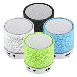 Discount tf speaker hot - Hot sale A9 Bluetooth Speaker Wireless Speaker Bling Bling LED A9 Subwoofer Stereo Player For IOS Android Phone PC with