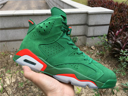$enCountryForm.capitalKeyWord NZ - New with orange box 6 Gatorade Green Suede men basketball shoes sports sneaker trainers best quality size 8-13
