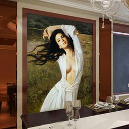 Beauty Oils Canada - Vintage Wall Mural 3D wallpaper for walls Oil painting photo wallpaper Bedroom Corridor Art Decor TV backdrop wall covering Beauty wallpaper