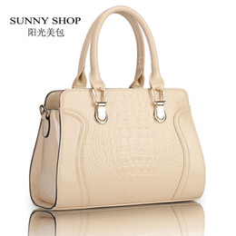 $enCountryForm.capitalKeyWord Canada - Wholesale-SUNNY SHOP Fashion alligator pattern handbag patent PU leather casual shoulder bag women designer messenger bag