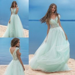 6490f4cad30 2017 New Sexy Mint Prom Dresses V Neck Sage Cap Sleeves Lace Appliques  Illusion Crystal Beaded Tulle Plus Size Party Dress Evening Gowns