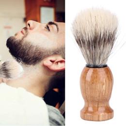 Nylon e Texugo Cabelo dos homens Barba Escova de Barbeiro Salão de Barbear Facial Barba de Limpeza Ferramenta de Barbear Navalha Escova em Promoção