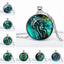 Zodiac pendants for men online zodiac pendants for men for sale jln twelve zodiac constellations 12 pcs lot fashion horoscope time gems cabochon alloy pendant necklace gift for man woman mozeypictures Choice Image