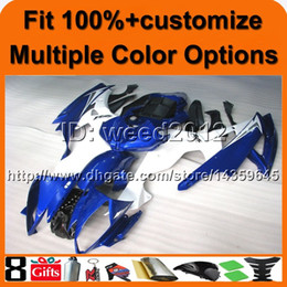 Discount r6 cover - 23colors+8Gifts Injection mold blue white set motorcycle cover for Yamaha YZF-R6 2006-2007 06 07 YZFR6 2006 2007 06-07 A